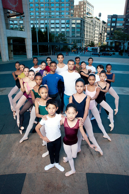 Members of City Ballet and School of American Ballet students. Credit Jesse Dittmar for The New York Times