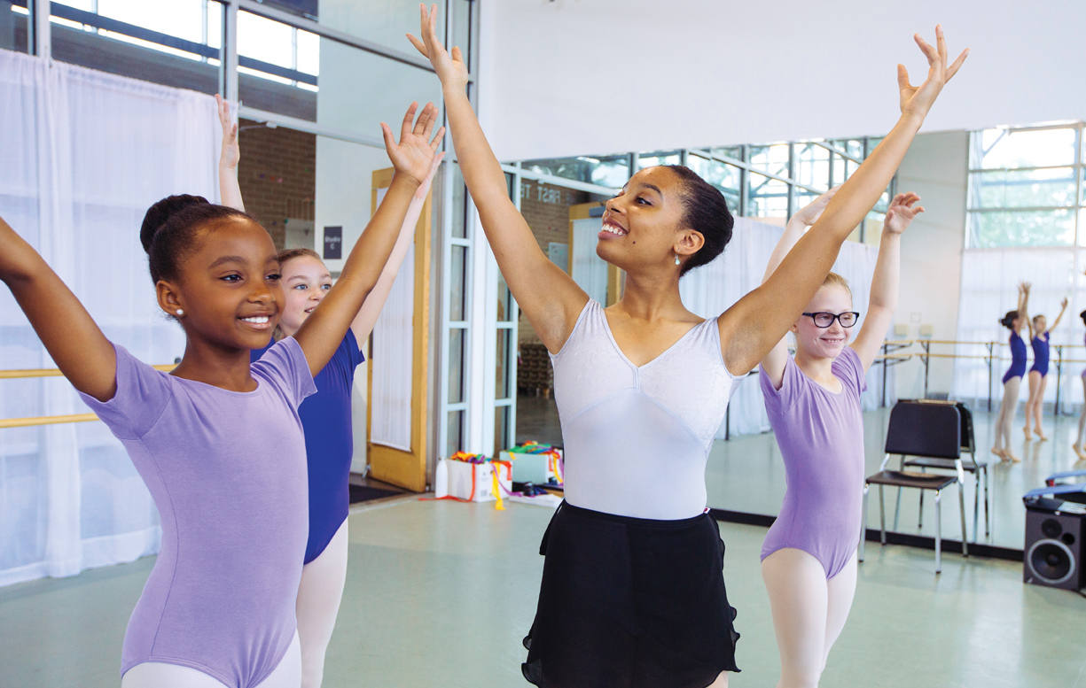 Trainee and teacher Ashley Hannah Davis is one of many black role models at Ballet Memphis. Photo Louis Tucker, courtesy Ballet Memphis.