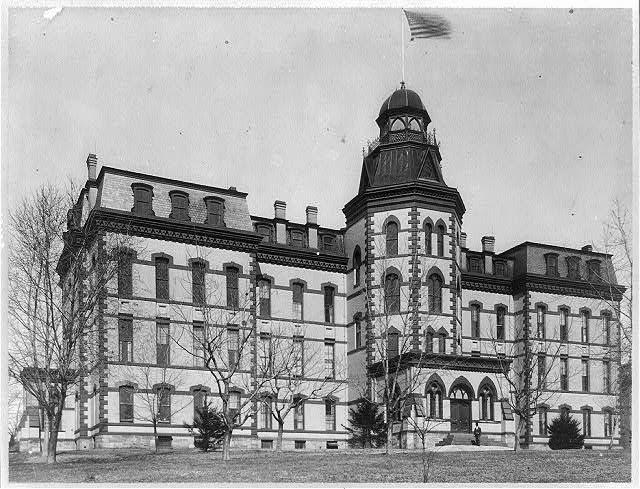 Main building, exterior, Howard University, Washington, DC, ca. 1900.