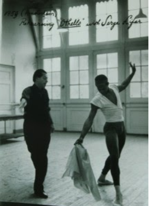 Wilson rehearsing Othello with Serge Lifar, National Ballet of Holland